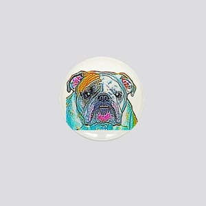 Bulldog in Color Mini Button